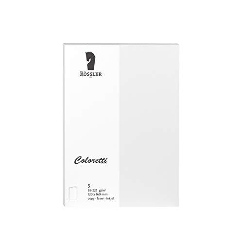 Rössler 220719509 Coloretti Karten, 220 g/m², B6 hd, 5 Stück, weiß