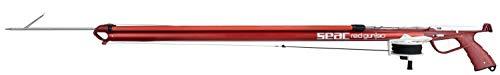 Seac Unisex- Erwachsene Red Gun Harpune mit Mündung für parallele Schlingen. 100% Made in Italy, rot, 110 cm