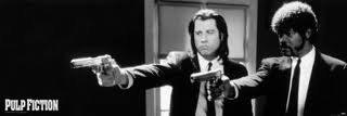 Riesen-Tür-POSTER, Motiv: Pulp Fiction Guns Maße: 158 x 53 cm, ca. 62 x 53.34 cm, ES) -