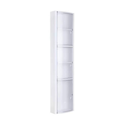 TATAY 4480001 - Armario auxiliar de Baño Vertical con 3 puertas y 5 repisas, Plástico Polipropileno...