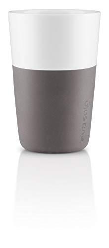 Eva Solo 5706631052412–501022 – Latte de Tasse, Coque en silicone, 360 ml, Porcelaine, Elephant Gris, 8,5 x 8,5 x 12,5 cm, 2 pièces
