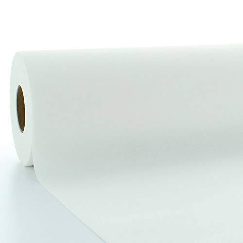 Sovie HORECA | Tischdeckenrolle Weiß | Linclass® Airlaid | 120 cm x 25 m | für Hochzeit, Geburtstag, Taufe, Kommunion | Made in Germany | 1 Stück (Weiss)