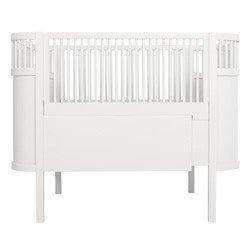 Babybett Kili, Birkenholz weiß 70x110 cm, Sebra Interior