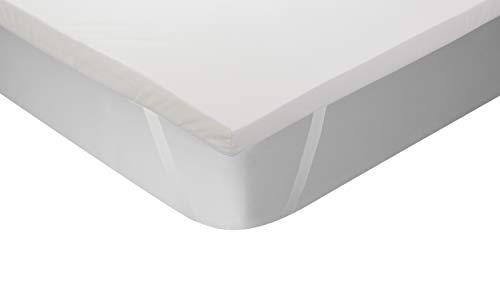 Classic Blanc - Topper/Sobrecolchón viscoelástico termorregulador, color blanco, 135x190cm-Cama 135...