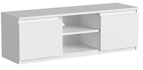 TV-Lowboard Board Schrank Fernsehtisch TV-Möbel (Weiß) - 6