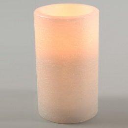 LED Kerze Ø 7,5 x H 7,5 cm Naturoptik weiß