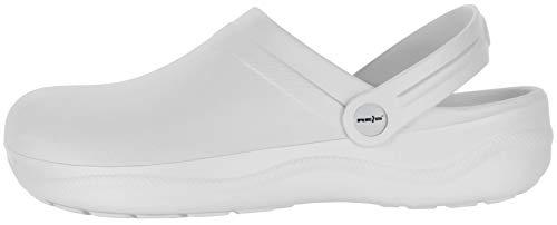 REIS Weiße Damen Clogs - Frauen Pantoletten Arztpraxis Krankenhaus-Schuhe, Größe: 39
