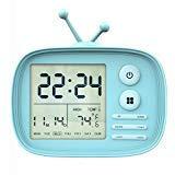 MoKo Despertador Digital, LED Digital Reloj Alarma con Funda Silicona, Retroiluminación Inteligente y Alta Precisión Pantalla de Fecha Temperatura, Función Despertador Snooze y luz Nocturna - Azul