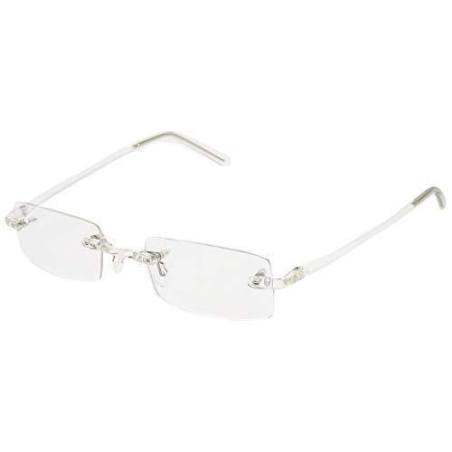 randlose Brillengestelle whynot rahmenlose Brille mit individueller Sehstärke + Brillenetui (kristall 1, nur Brillengestelle (ohne Sehstärke))