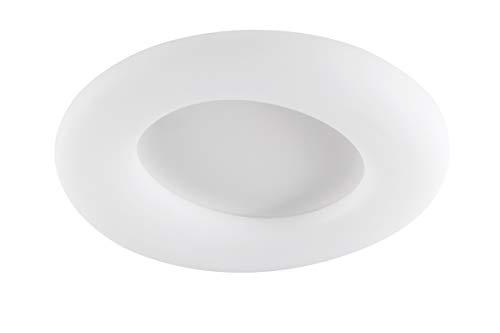 WOFI Innenleuchte, Wohnraum, Deckenleuchte, Deckenlampe, Leuchte, Lampe, dimmen, Memory, Fernbedienung, weiß, Kunststoff, 63 W