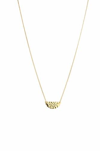 902a6240c76c tomshot Collar Mujer Joyas oro colgante Half Sun Media Luna redonda  plättchen Cadena amartillado Cadena Longitud