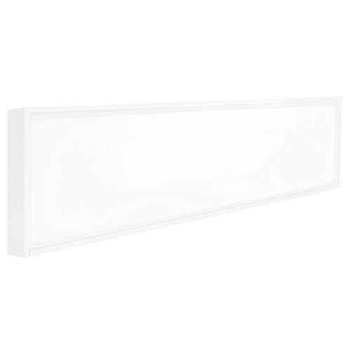 Lumira LED Panel 120x30 cm, 50W, Neutralweiß, Aufbauleuchte, Rahmen, Blendfrei inkl. Trafo