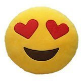 LI&HI 32cm Emoji Smiley Emoticon Yellow Round Cushion Pillow Stuffed Plush Soft Toy