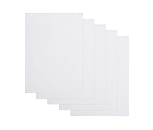 BoardsPlus Karierte Flipchart-Papierblöcke - 5er-Pack A1-Flipchartblöcke, 60 g/m² Papier, 20 Blätter pro Block