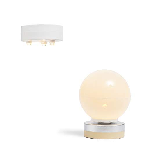 Lundby 60605200 - Lampen Puppenhaus - Puppenhaus-Zubehör - 2-teilig - LED-Beleuchtung - batteriebetrieben - Deckenleuchte - Wandleuchte - ab 4 Jahre - für 11 cm Puppen - Minipuppen 1:18