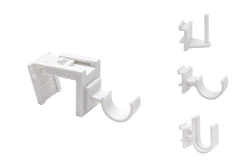 metablo Fensterhaken, Dekohaken,Vitragehaken Weiss - 10er oder 20er-Set, B 17 x 22 mm - Für Fenster bis maximal 23mm Falzmaß geeignet Weiß 10-23 mm 10 Stück