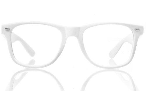 Preisvergleich Produktbild Nerd-Brille ohne Gläser Wayfarer Style Unisex Hornbrille für Damen und Herren Retro Atzen-Brille