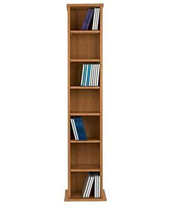 High Quality Maine DVD and CD Media Storage Tower - Oak Effect. by OnlineDiscountStore