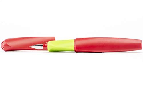 Pelikan - Pluma estilográfica, color rojo y verde