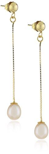 Fascination by Ellen K. 216320048 - Orecchini pendenti da donna, oro giallo 8k (333), 45 mm
