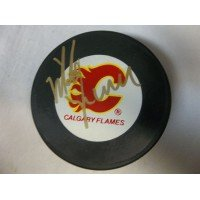 Signed Vernon, Mike (Calgary Flames) Calgary Flames Hockey Puck autographed