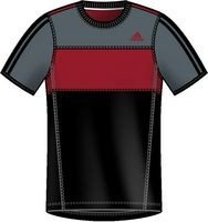 Adidas Marathon 10 S/S Tee rojo Negro negro Talla:small