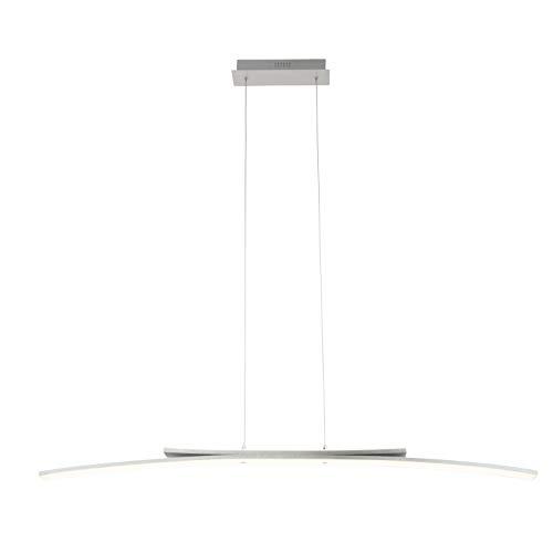 Brilliant Sunrise LED Pendelleuchte Balken 121cm Lichtauslass zweiseitig alu 3765 Lumen, LED integriert