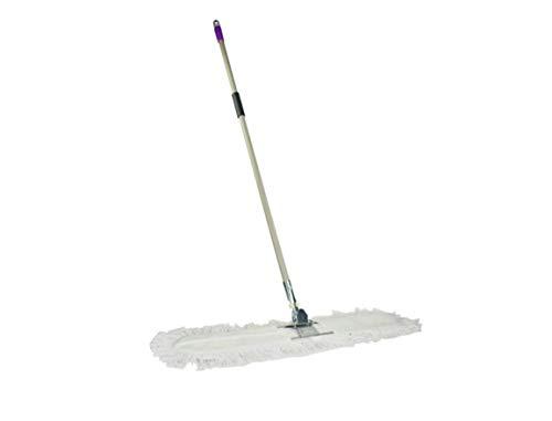 Zhz canna piatta in acciaio inox a resistenza piatta trascinare grande mop piatto cotone polvere spingere filato di cotone lunga fila traino 60cm e 90cm spinta della polvere (colore : 90cm)