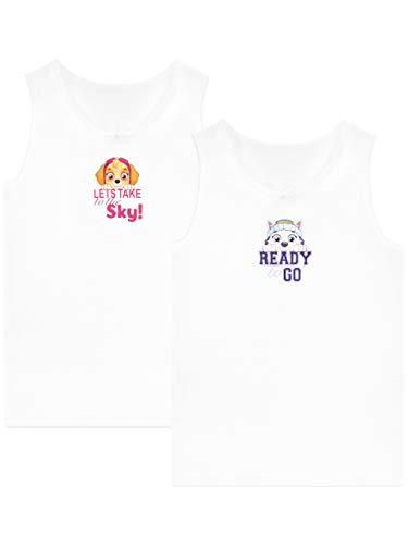 Paw Patrol Mädchen Skye und Everest Unterhemden Packung mit 2 Weiß 122 -