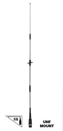 Comet Original CA-2X4SRNMO 144/446 MHz Dual-Band WideBand Mobile Antenna w/ NMO type Connector by Comet Nmo Mobile Antenne
