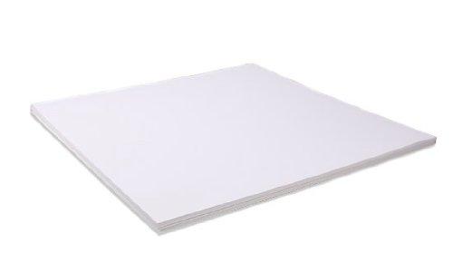 Bazzill Basics Weiß Leinwand 30, 5x 30, 5cm Tonkartons Bulk Pack von 25Blatt -