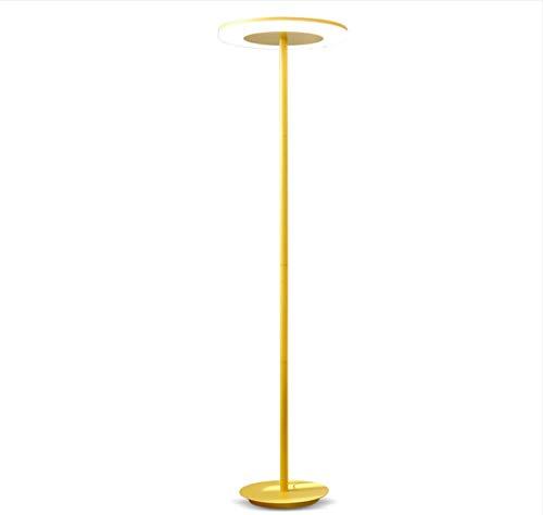 ZHLIANG Lampe torchère, LED Haut lampadaire, Moderne Industriel Permanent, lumière de Lecture pour Salon Chambres et Bureaux, Rose [Classe d'énergie A +],Yellow
