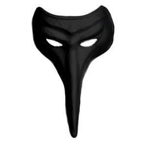 Und Maske Kostüm Pantalone - MÜLLER Pantalone, schwarz, aus Textil