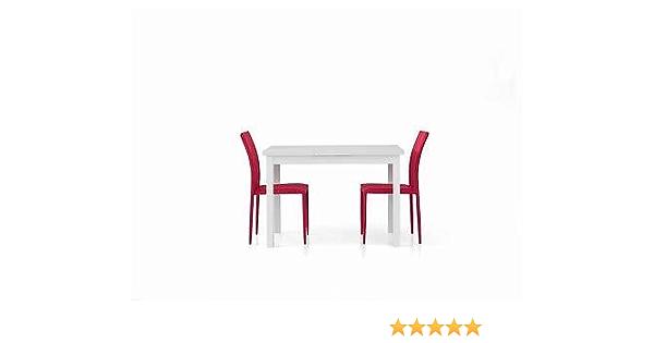 Tavolo Legno 110x70 Moderno Allungabile Bianco Frassinato Salotto Cucina Temp Amazon It Casa E Cucina