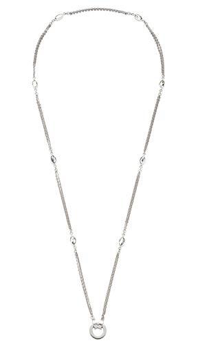 JEWELS BY LEONARDO DARLIN\'S Damen-Halskette Leonita, Edelstahl mit facettierten Glas-Blättchen, CLIP & MIX System, Länge 700 mm, 016838