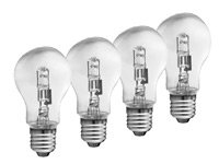 Halogen E27, 42 Watt, 4er-Pack