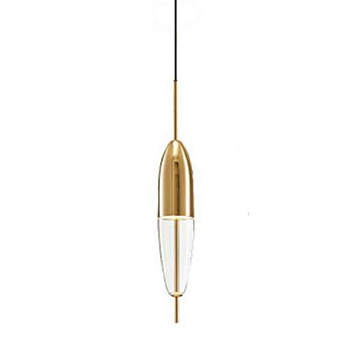 Glaslackschatten DIY Chandelier Loft Pendant Lampe Retro Ceiling Light (Blau/Cognac),Gold,A