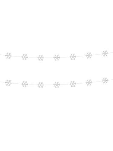Generique - 2 Guirlandes Flocons Blanc 180 cm