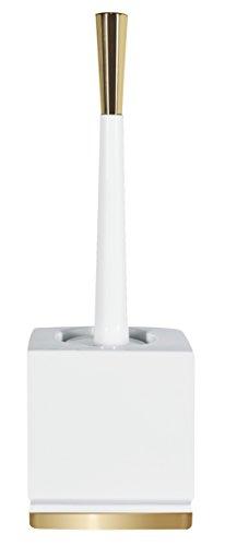 Spirella Roma WC-Bürste aus Porzellan, Weiß/goldfarben -