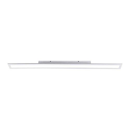 LED-Panel 120x10cm tageslichtweiß, 2100 Lumen, Wohnzimmer-Lampe, Büro-Paneel 4000 Kelvin, LED-Deckenlampe LED-Deckenleuchte, 31W neutralweiß, dimmbar rechteckig, LED-Display Slim flach ultraslim