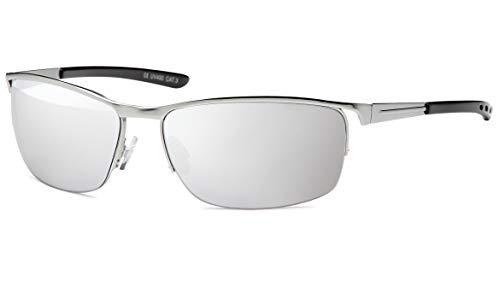BEZLIT Sonnenbrillen Elegantebrille Sonnenbrille Flieger Wayfarer Silber/Verspiegelt
