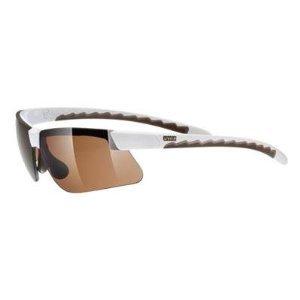 Uvex Active Fahrrad / Sport Brille weiss/braun