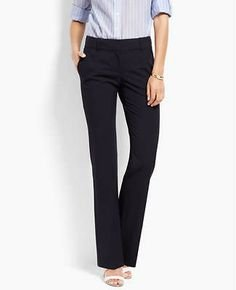 womens-dark-navy-signature-tropical-wool-straight-leg-trousers