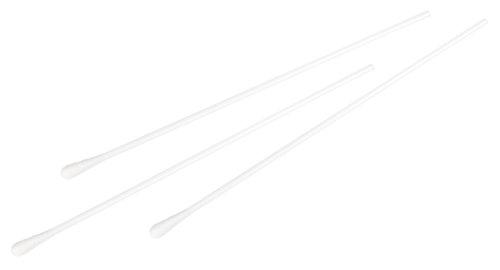 neoLab 2-1017 Wattestäbchen Stiel PP, 150 x 2,5 mm, Kopf 4-5,5 mm (100-er Pack)