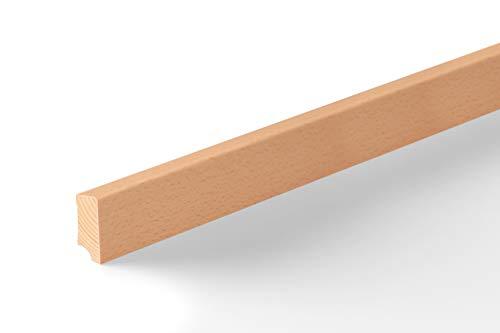 KGM Sockelleiste Buche ungedämpft   Modern Holzleisten 40mm für Parkett und Laminat Buche ✓Echtholz Fußleiste ✓hochwertige Furnier Oberfläche   Parkettleiste Bodenleiste 16x40x2500mm