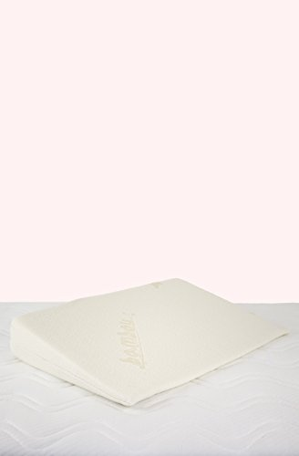 Kadolis Plan Incliné Bambou Déhoussable pour Lit 60 x 120 cm Blanc