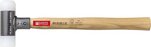 PB Swiss Tools Kunststoffhammer PB 300 mit Stiel aus Hickory-Holz, Rückschlagfrei, 100{b722f83a9e84bedc9a6f4d20a98947666961c201357517695930a677eaeb2a0e} Swiss Made, Lebenslange Garantie, 391g, Größe 3