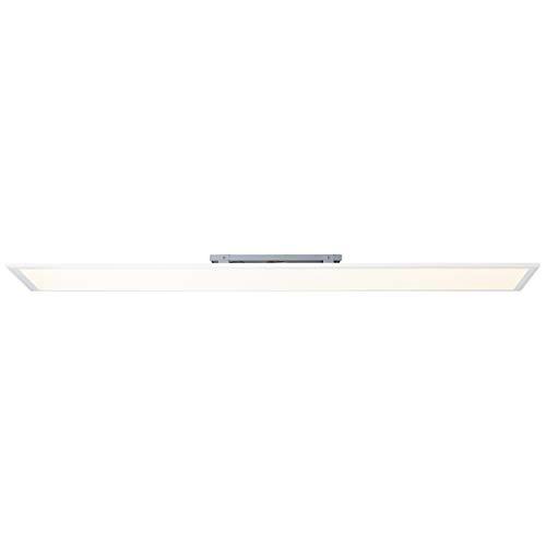 Brilliant Abie LED Deckenaufbau-Paneel 120x30cm RGB Panel Fernbedienung dimmbar RGB Hauptlicht CCT Einstellung der Lichttemperatur flächiges Licht weiß 4000 Lumen, LED integriert