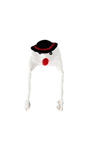 Baby Mädchen/Jungen Häkeln Stricken Kostüm Fotografie Prop Outfits (Schneemann Hut) (Baby Schneemann Kostüm)