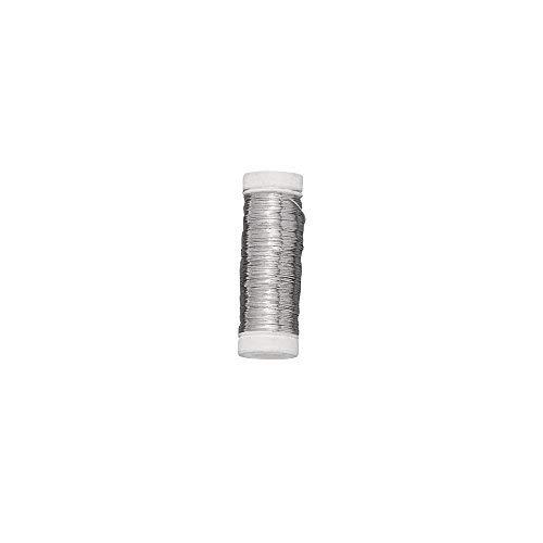 RAYHER HOBBY 2425600 Hilo Plata núcleo Cobre, 0,30